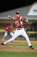 Batavia Muckdogs pitcher Tyler Kane (16) delivers a pitch during a game against the Mahoning Valley Scrappers on June 21, 2014 at Dwyer Stadium in Batavia, New York.  Batavia defeated Mahoning Valley 10-6.  (Mike Janes/Four Seam Images)