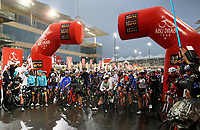 PICTURE BY MARK GREEN/SWPIX.COM ATP  Tour of Abu Dhabi - Yas Island Stage, UAE, 26/02/17<br /> Mark Cavendish at the centre of the pack before the start of the Yas Marina Stage of the 2017 Tour of Abu Dhabi.