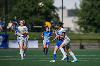 Boston, MA - Saturday June 24, 2017: Amanda DaCosta and Abby Erceg during a regular season National Women's Soccer League (NWSL) match between the Boston Breakers and the North Carolina Courage at Jordan Field.