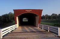 Iowa, Winterset, covered bridge, circa 1880 Holliwell Covered Bridge in Winterset. Bridges of Madison County