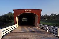 Iowa, Winterset, covered bridge, circa 1880 Holliwell Covered Bridge in Winterset. Bridges of Madison County