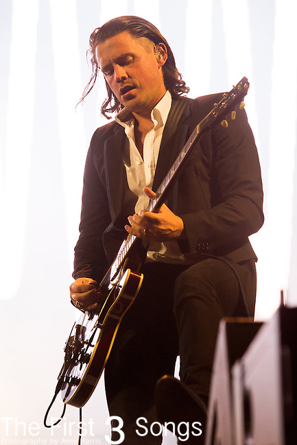 Jamie Cook of Arctic Monkeys performs at the Outside Lands Music & Art Festival at Golden Gate Park in San Francisco, California.