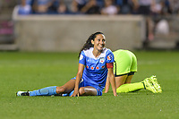 Bridgeview, IL - Wednesday August 16, 2017: Christen Press during a regular season National Women's Soccer League (NWSL) match between the Chicago Red Stars and the Seattle Reign FC at Toyota Park. The Seattle Reign FC won 2-1.