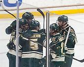 Ross Colton (UVM - 37), Derek Lodermeier (UVM - 16), Rob Hamilton (UVM - 5), Mario Puskarich (UVM - 21), Brendan Bradley (UVM - 20) - The Boston College Eagles defeated the University of Vermont Catamounts 7-4 on Saturday, March 11, 2017, at Kelley Rink to sweep their Hockey East quarterfinal series.The Boston College Eagles defeated the University of Vermont Catamounts 7-4 on Saturday, March 11, 2017, at Kelley Rink to sweep their Hockey East quarterfinal series.