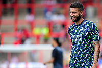 Borja of Swansea City during the pre-match warm-up for the pre season friendly match between Exeter City and Swansea City at St James Park in Exeter, England, UK. Saturday, 20 July 2019
