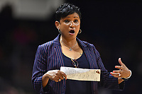 Washington, DC - Aug 8, 2019:Indiana Fever head coach Pokey Chatman on the sideline during 2nd half action of game between the Indiana Fever and the Washington Mystics. The Mystics defeat the Fever 91-78 at the Entertainment & Sports Arena in Washington, DC. (Photo by Phil Peters/Media Images International)