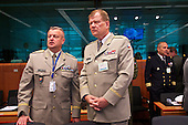 Czech military delegation at the EU Council.