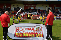 during Stevenage vs Cambridge United, Sky Bet EFL League 2 Football at the Lamex Stadium on 14th April 2018