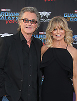 "HOLLYWOOD, CA - April 19: Kurt Russell, Goldie Hawn, At Premiere Of Disney And Marvel's ""Guardians Of The Galaxy Vol. 2"" At The Dolby Theatre  In California on April 19, 2017. Credit: FS/MediaPunch"