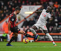 Bournemouth's Andrew Surman (left) battles with Liverpool's Sadio Mane (right)  <br /> <br /> Photographer David Horton/CameraSport<br /> <br /> The Premier League - Bournemouth v Liverpool - Saturday 8th December 2018 - Vitality Stadium - Bournemouth<br /> <br /> World Copyright © 2018 CameraSport. All rights reserved. 43 Linden Ave. Countesthorpe. Leicester. England. LE8 5PG - Tel: +44 (0) 116 277 4147 - admin@camerasport.com - www.camerasport.com