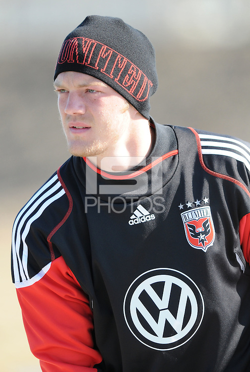 D.C. United goalkeeper Joe Willis (31) During the first training session after returning from Arizona, at Long Bridge Park in Arlington Virginia, Monday February 20, 2012.