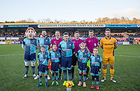 Match day mascots during the Sky Bet League 2 match between Wycombe Wanderers and Newport County at Adams Park, High Wycombe, England on 2 January 2017. Photo by Andy Rowland.