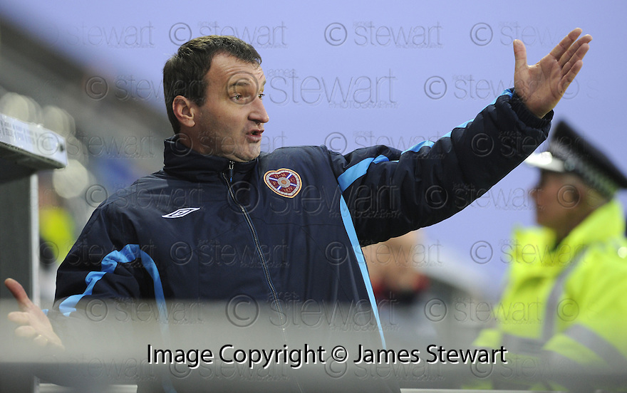 26/12/2009  Copyright  Pic : James Stewart.sct_jspa07_falkirk_v_hearts  .:: HEARTS MANAGER CSABA LASZLO DURING THE FALKIRK GAME :: .James Stewart Photography 19 Carronlea Drive, Falkirk. FK2 8DN      Vat Reg No. 607 6932 25.Telephone      : +44 (0)1324 570291 .Mobile              : +44 (0)7721 416997.E-mail  :  jim@jspa.co.uk.If you require further information then contact Jim Stewart on any of the numbers above.........