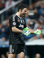Juventus Football Club's Gianluigi Buffon celebrates goal during Champions League Quarter-Finals 2nd leg match. April 11,2018. (ALTERPHOTOS/Acero) /NortePhoto.com