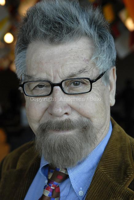 spanish author Baltasar Porcel attending Frankfurt book fair.