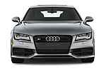 Car photography straight front view of a 2015 Audi S7 Base 4 Door Sedan