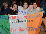 Samantha Doyle, Pauline O'Neill, Brooklyn and Sharon Gorman cheer on  Gary O'Neill in the white collar boxing in Ardee parish centre. Photo:Colin Bell/pressphotos.ie