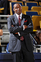 6 February 2010:  FIU Basketball Head Coach Isiah Thomas reacts to a call in the second half as the North Texas Mean Green defeated the FIU Golden Panthers, 68-66, at the U.S. Century Bank Arena in Miami, Florida.