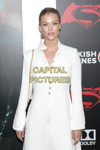 NEW YORK, NY - MARCH 20: Nina Agdal at the New York Premiere of Warner Bros. Pictures&rsquo; &ldquo;Batman v Superman: Dawn of Justice&rdquo; at Radio City Music Hall in New York City on March 20, 2016. <br /> CAP/MPI99<br /> &copy;MPI99/Capital Pictures