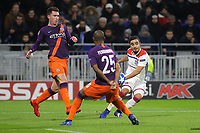 Rafael of Lyon crosses the ball into the Manchester City penalty area during Lyon vs Manchester City, UEFA Champions League Football at Groupama Stadium on 27th November 2018