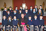 Glenbeigh NS pupils who was confirmed in Glenbeigh on Tuesday front row l-r: Roisin Riordan, Amy Garcia, Eireann Blunt, Bishop Bill Murphy, Oisin McGillicuddy, Luke O'Connor, Sean Burke. Middle row: Laura Sheahan, Lisa Looney, Stephanie Sheahan, Robert O'Connor, Ivonne O'Shea, Rachel Montgomerie. Back row: John Riordain, Michea?l Griffin, Emma Sheahan, Kate Conboyne, Aisling Brennan, Danika O'Grady, Cai?ona Coffey and Callum Teahan.