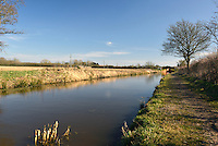 The restored Berks and Wilts canal near Wootton Bassett in Wiltshire