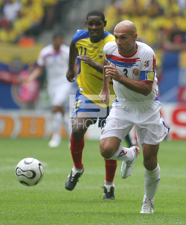 Costa Rica's Luis Marin (3). Ecuador defeated Costa Rica 3-0 in their FIFA World Cup Group A match at FIFA World Cup Stadium, Hamburg, Germany, June 15, 2006.