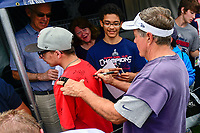 July 28, 2017: New England Patriots head coach Bill Belichick signs an autograph for a fan at the New England Patriots training camp held at Gillette Stadium, in Foxborough, Massachusetts. Eric Canha/CSM