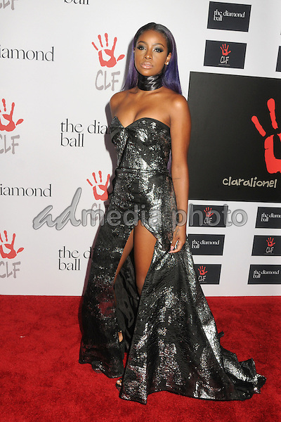10 December 2015 - Santa Monica, California - Justine Skye. 2nd Annual Diamond Ball held at Barker Hangar. Photo Credit: Byron Purvis/AdMedia