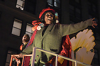 Grand Marshall, Whoppi Goldberg waves to the crowd from her float during the 41st Annual Halloween Parade. 10.31.2014. Photo by Marco Aurelio/VIEWpress
