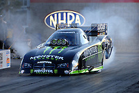 Jan 21, 2007; Las Vegas, NV, USA; NHRA Funny Car driver Kenny Bernstein does a burnout during preseason testing at The Strip at Las Vegas Motor Speedway in Las Vegas, NV. Mandatory Credit: Mark J. Rebilas
