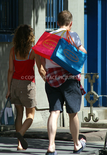 'Sex and the City' actress Sarah Jessica Parker was out shopping in the fashionable 'Meat Packing' district with a friend. She made a number of purchases at ultra-fashionable 'Scoop' before strolling back to her West Village home. New York City. June 2 2004. Please byline: BRIAN FLANNERY/ ACE Pictures.   ..*PAY-PER-USE*      ....IMPORTANT: Please note that our old trade name, NEW YORK PHOTO PRESS (NYPP), is replaced by our new name, ACE PICTURES. New York Photo Press and ACE Pictures are owned by All Celebrity Entertainment, Inc.......All Celebrity Entertainment, Inc:  ..contact: Alecsey Boldeskul (646) 267-6913 ..Philip Vaughan (646) 769-0430..e-mail: info@nyphotopress.com
