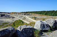Kalksteinabbau bei Elbingerode im Harz, Sachsen-Anhalt, Deutschland