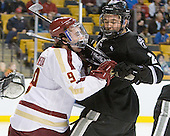 Barry Almeida (BC - 9), Kevin Hart (PC - 2) - The Boston College Eagles defeated the Providence College Friars 4-2 in their Hockey East semi-final on Friday, March 16, 2012, at TD Garden in Boston, Massachusetts.