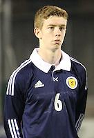 Stuart Findlay in the Scotland v Armenia UEFA European Under-19 Championship Qualifying Round match at New Douglas Park, Hamilton on 9.10.12.
