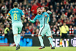 FC Barcelona's Andres Iniesta, Leo Messi and Jordi Alba celebrate goal during Spanish Kings Cup match. January 05,2017. (ALTERPHOTOS/Acero)