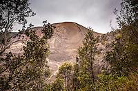 Pu`u Pua`i cinder cone, Kilauea Iki trail, Hawai'i Volcanoes National Park, Big Island.