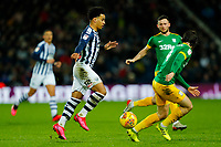 25th February 2020; The Hawthorns, West Bromwich, West Midlands, England; English Championship Football, West Bromwich Albion versus Preston North End; Matheus Pereira of West Bromwich Albion on the ball as Maguire of Preston closes
