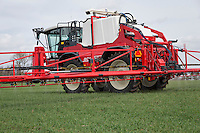 Applying liquid nitrogen to winter wheat with 36m Agrifac sprayer - April