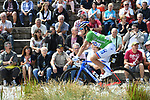 Green jersey holder Arnaud Demare (FRA) FDJ at sign on before the start of Stage 6 of the Criterium du Dauphine 2017, running 147.5km from Parc des Oiseaux - Villars-les-Dombes to La Motte-Servolex, France. 9th June 2017. <br /> Picture: ASO/A.Broadway | Cyclefile<br /> <br /> <br /> All photos usage must carry mandatory copyright credit (&copy; Cyclefile | ASO/A.Broadway)