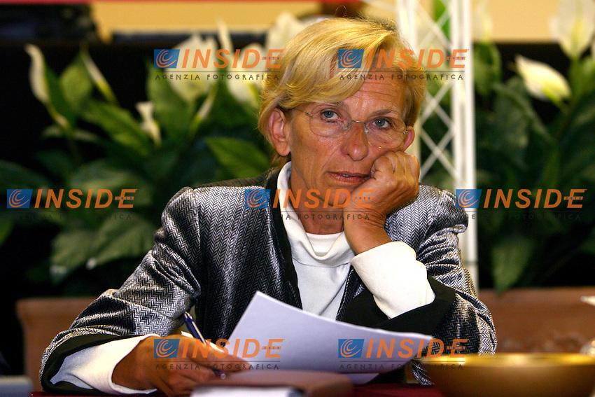 Roma 9/1/2006 Hotel Palatino, Direzione Nazionale &quot;Rosa nel Pugno&quot;. <br /> <br /> Emma Bonino<br /> <br /> Photo Andrea Staccioli Insidefoto