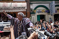 June 7, 2018: Andres Manuel Lopez Obrador, an opposition candidate of MORENA party running for presidency, during his campaign rally at Tlapa de Comonfort's municipality in Guerrero, Mexico. National elections will be hold on July 1.