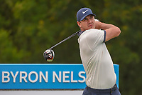 Brooks Koepka (USA) watches his tee shot on 15 during the round 1 of the AT&T Byron Nelson, Trinity Forest Golf Club, Dallas, Texas, USA. 5/9/2019.<br /> Picture: Golffile | Ken Murray<br /> <br /> <br /> All photo usage must carry mandatory copyright credit (© Golffile | Ken Murray)