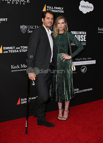 SANTA MONICA, CA - MAY 11: Sara Michael Foster, Tommy Haas arrives at the 3rd Biennial Rebels With A Cause Fundraiser at Barker Hangar on May 11, 2016 in Santa Monica, California.  Credit: Parisa/MediaPunch.