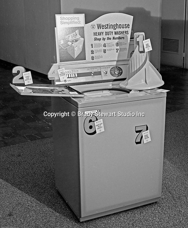 Pittsburgh PA - Westinghouse Eighteen Electric Washer - 1962.  On location photography at a Sears Roebuck store at the new Northway Center Mall on McKnight Road in the North Hills