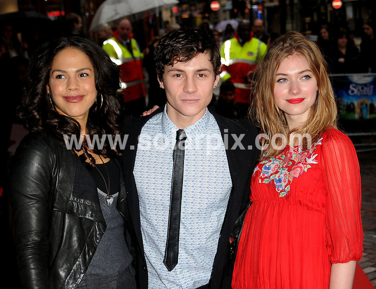 **ALL ROUND PICTURES FROM SOLARPIX.COM**.**WORLDWIDE SYNDICATION RIGHTS**.UK Charity Premiere of The Secret of Moonacre, held at the the Vue Cinema, Leicester Square. London, UK. 25th January 2009...This pic: Leona Crichlow, Augustus Prew and Imogen Poots..JOB REF: 8316 BTT     DATE: 25_01_2009.**MUST CREDIT SOLARPIX.COM OR DOUBLE FEE WILL BE CHARGED* *UNDER NO CIRCUMSTANCES IS THIS IMAGE TO BE REPRODUCED FOR ANY ONLINE EDITION WITHOUT PRIOR PERMISSION*