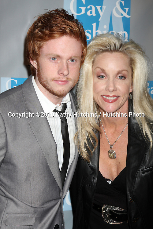 Cheri Currie & son.arrives at An Evening with Women - LA Gay & Lesbian Center's Gala.Beverly Hilton Hotel.Beverly Hills, CA.May 1, 2010.©2010 Kathy Hutchins / Hutchins Photo...