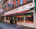 F X Buckley butcher shop, Moore Street, Dublin city centre, Ireland, Republic of Ireland