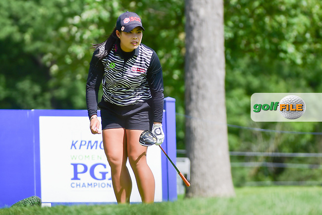 Moriya Jutanugarn (THA) watches her tee shot on 16 during Saturday's round 3 of the 2017 KPMG Women's PGA Championship, at Olympia Fields Country Club, Olympia Fields, Illinois. 7/1/2017.<br /> Picture: Golffile | Ken Murray<br /> <br /> <br /> All photo usage must carry mandatory copyright credit (&copy; Golffile | Ken Murray)