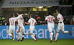 12.01.2018, Bay - Arena, Leverkusen, GER, 1.FBL, Bayer 04 Leverkusen vs FC Bayern M&uuml;nchen<br /> , im Bild<br />Javi Mart&iacute;nez (M&uuml;nchen) freut sich &uuml;ber sein Tor zum 1:0<br /> Foto &copy; nordphoto / Bratic<br /> Foto &copy; nordphoto / Bratic